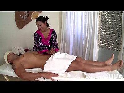 Beautiful Asian masseuse Sharon Lee gets Holed Deep & Hard!