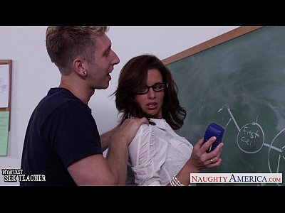 Blowjob Brunette Busty video: Stockinged sex teacher Veronica Avluv fuck in class