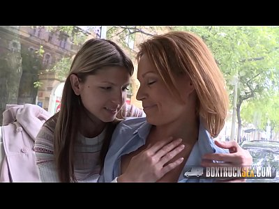Sex Public video: Hot Szilvia Lauren surprised by the lesbian model agent