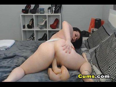 Horny Busty Webcam Babe Masturbate her Pussy