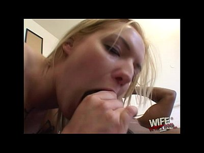 Barbora sucking a black cock