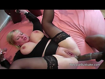Gangbang Amateur xxx: Huge black cocks in mouth ass and pussy