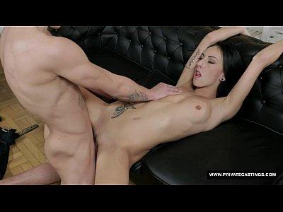 Amateur Brunettes porno: Tattooed Newbie El Storm Has Her First Hardcore...