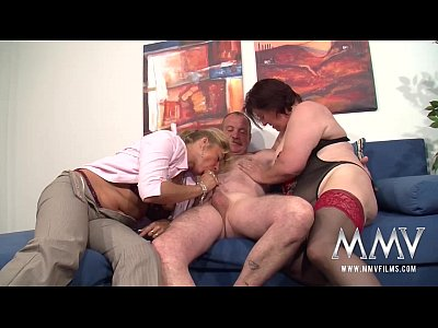 Amateur Lingerie Fetish video: MMV FILMS German Mature Threesome