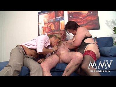 Amateur Lingerie Fetish video: MMV FILMS German Mature Threesome