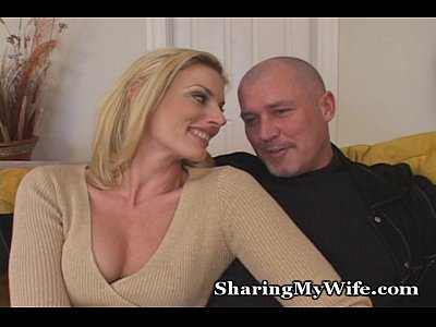 Couple Blonde Facial video: Curious Couple Wants New Young Stud To Please Her