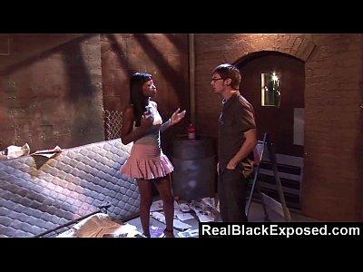 Interracial Hardcore video: RealBlackExposed - Whore Fucks Her Pimp