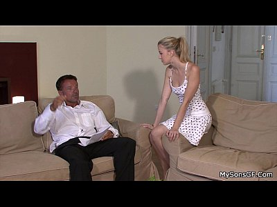 Cheatinggirlfriend Familytaboo Fatherforce video: Lovely blonde jumps at old man big cock