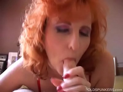 volgare rossa vecchio spunker dà un pompino sciatta e mangia cum