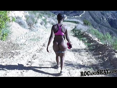 Amateur Black Ebony video: CAMPAMENTO SALVAJE!!