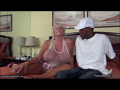 Interracial Milf video: 72 year old Grandma Craves Big Black Cock