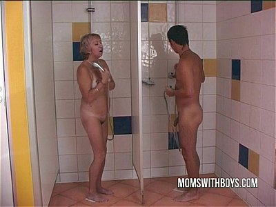 Facial Mature Granny video: Old Slut In Steaming Shower Fuck With A Young Stud