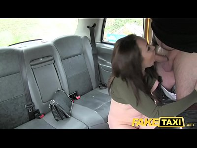Blackcab Blowjob Brownhair video: Fake Taxi Hot Australian brunette in heels