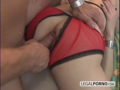 Two hot blondes fucked hard by a big cock GB-4-04