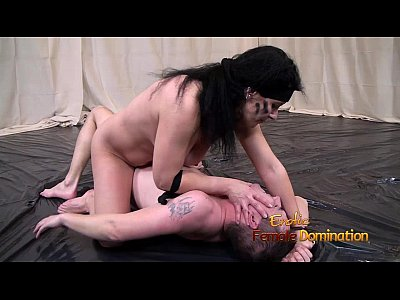 Fetish Domination Bondage video: Nude Women Fighting Against Her Nude Male Opponent