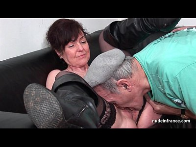 Amateur French Lingerie video: Amateur mature hard DP and facialized in 3way with Papy Voyeur