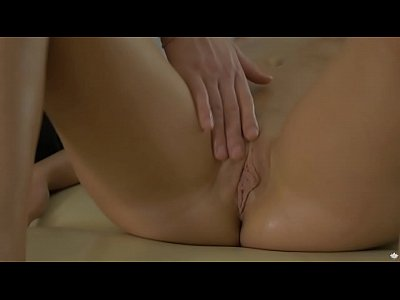 Blowjob Brunette European video: Ariana Jollee enjoys oily pussy fingering