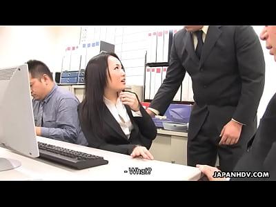 アジアダーク漆黒ファック彼女co-労働者