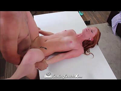 Audition Blowjob Casting video: HD - CastingCouch-X Young redhead wants to be fucked on camera