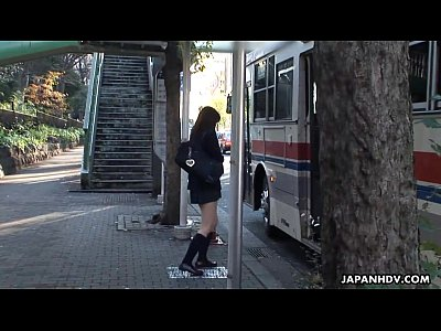 Ass Avidol Bigcock video: Bus hijackers have their way with the cute Asian student