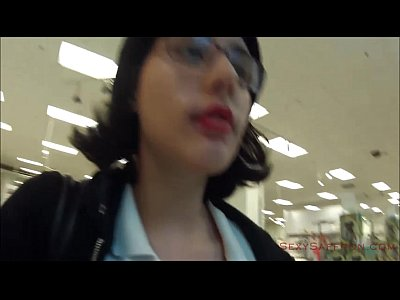 Voyeur Pov Public video: Public Cum Walk at the Mall!
