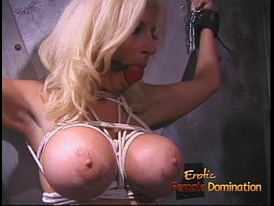 Tits Bdsm Sex video: Giant melons gets tied up and covered in candle wax
