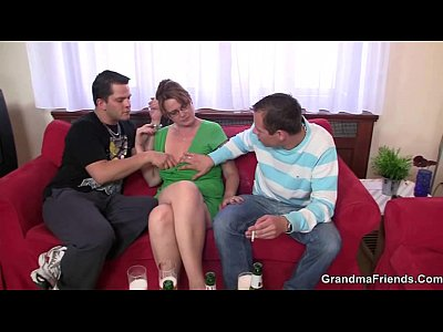 Grandmathreesome Grandmother Granma video: Hardcore threesome party with old bitch