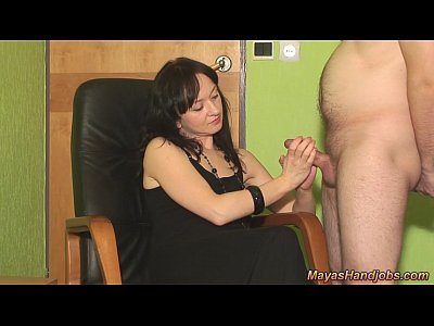 Femdom Handjob Multiple video: 2 cumshots on Maya clothes