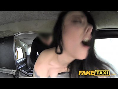 Blowjob Camcorder Car video: Fake Taxi Lady in stockings gets creampied