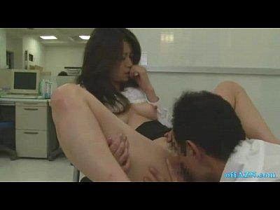 【北条麻妃】美熟女OLが白昼堂々社内で佐川銀次にアヌス舐められ・・・