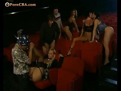 Hall porn Handjob in cinema
