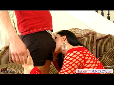 Lingerie Blowjob Pornstar video: Big assed India Summer riding cock