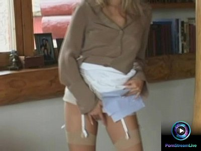Masturbation Blonde video: Lovely Victoria Swinger giving tugjob and footjob like a pro