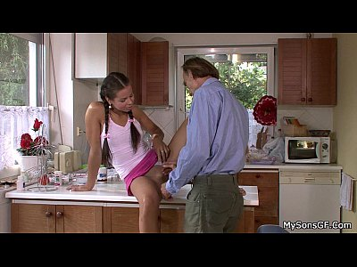 Cheatinggirlfriend Familytaboo Fatherforce video: Nasty girl riding old granpa dick