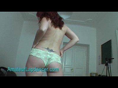 Lapdance by an amateur redhead MILF Alena