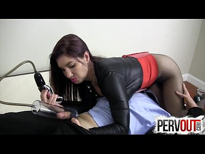 Ball Booty Cbt video: Penis Pump Femdom Face Sitting