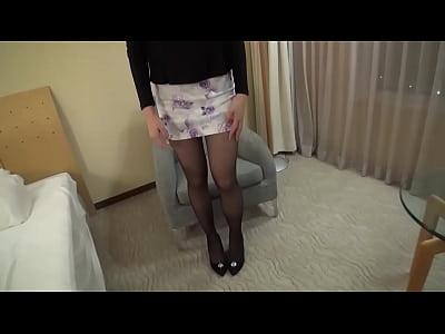 【素人】美脚美女!スラーっと伸びた長い脚がとってもセクシー! |
