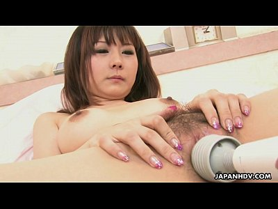Avidol Boobs Closeup video: Lovely Japanese housewife loves having her hairy pussy boned hard