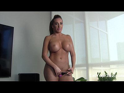 Femdom Cum Jerk video: Cum for Summer Monroe and eat it!