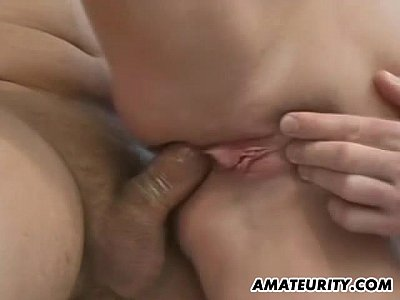 Amateur Group Boobs video: Busty amateur blonde anal threesome in the bathroom with facials