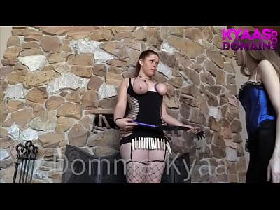 Bondage Bigtits Lesdom video: Flogging Slavegirl LESDOM KYAA GODDESS WORSHIP