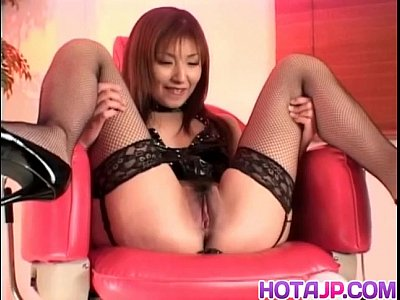 Hitomi ikeno gets sex toys in and on hairy slit 3