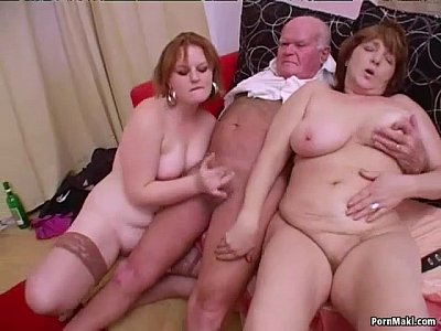 Chubby Cumshot Anal video: Crazy Granny Groupsex