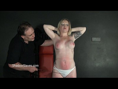 Bdsm Spanking Blonde video: Angels breast whipping and frontal spanking of blonde milf in hardcore bdsm and