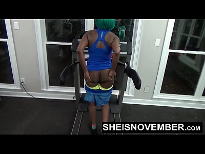 Fit Ebony Work Out Naked In Gym Lead To Giving ...