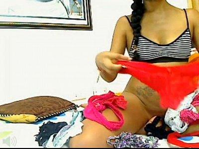 Colombia video: Putita en cali, mostrando ropa interior