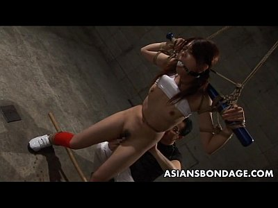 Ball Bars Bdsm video: Frail Asian hottie boned with a dildo