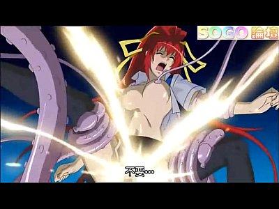 エロアニメ 赤髪ツインテールの可愛い巨乳美少女が催眠にかかって触手チ○ポに犯される