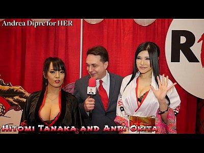 Hitomi Tanaka with Anri Okita: blowjob lesson f...