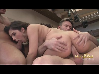 Hardcore Czech Teen video: Cute Teen double penetrated and swallowed every drop